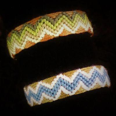 bracelet brésilien motif zig zag ajouré