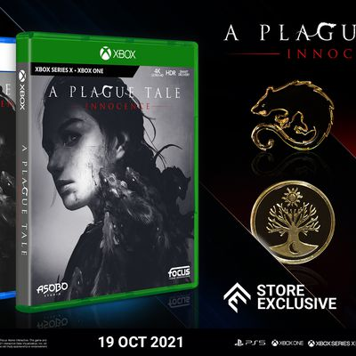 A Plague Tale: Innocence - Les versions physiques PlayStation 5 et Xbox Series X|S sont disponibles en magasin