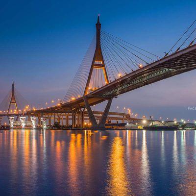 Le pont Rama IX à Bangkok