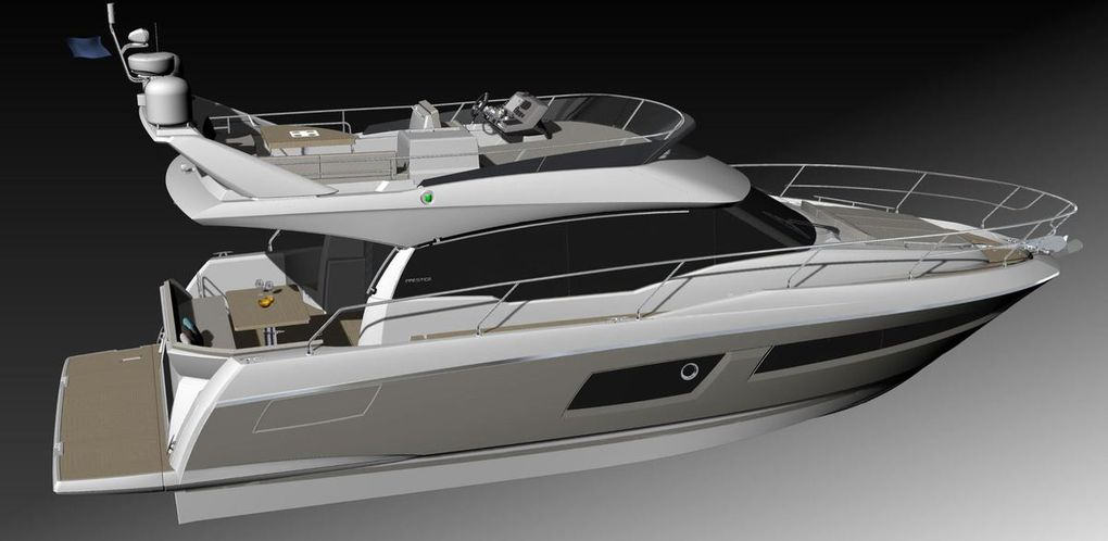 The new Prestige 460 unveiled at the Miami Boat Show