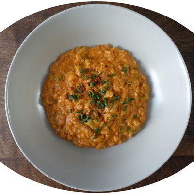 Quasi - risotto crémeux aux poivrons