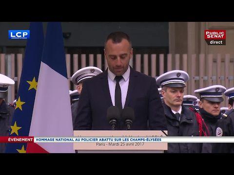 Très émouvant hommage républicain à Xavier Jugelé.