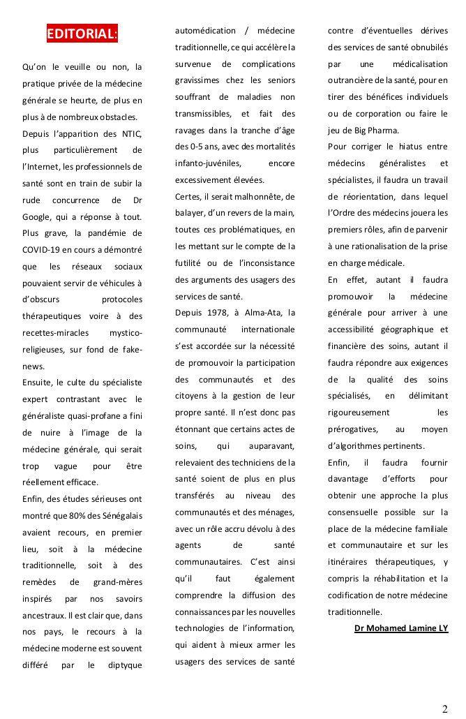 """PARUTION DU PREMIER NUMÉRO DES """"NOUVELLES DE SANCOMBAO"""""""