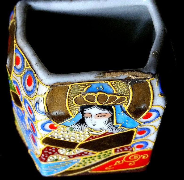 Vide poche en porcelaine japonaise du début XXe , origine SATSUMA