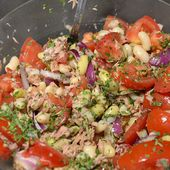 Salade haricots blancs thon cookeo  