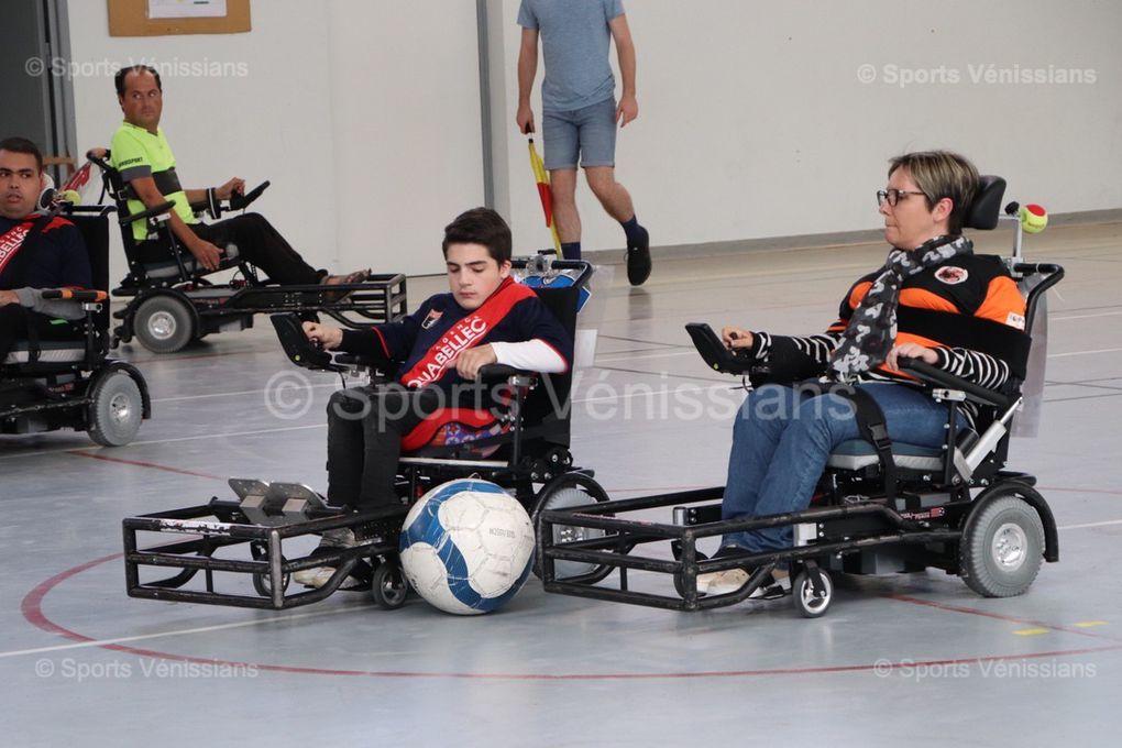 Préparation en vue pour les joueurs de foot-fauteuil d'Handisport Lyonnais