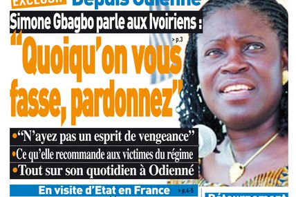 """Simone Gbagbo from her prison of Odienné : """"Forgive, always forgive"""""""