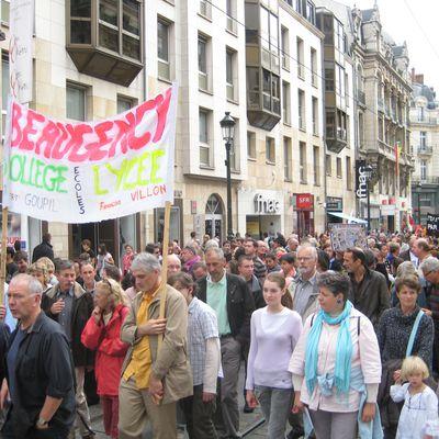 Journée de grève sur Orléans