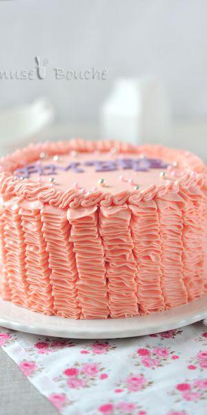 Gâteau froufrous ou Ruffle cake