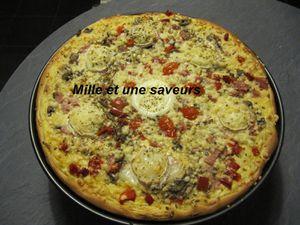 pizza à la crème légère