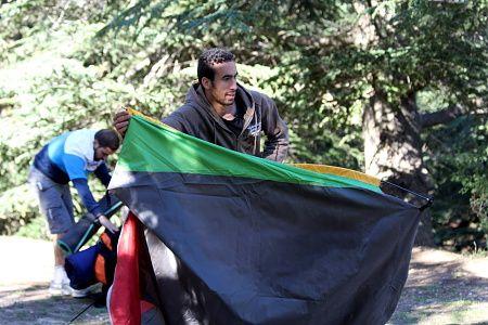 Quelques photos de bivouac   et randonnée  à Tikjda en compagnie des jeunes aventuriers du Club SAM...