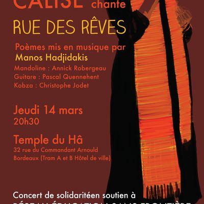 Calise et ses musiciensorganisent un concert pour RESF