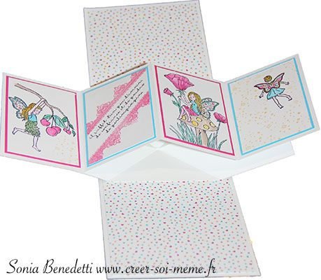 tutoriel en video pour faire jolie carte avec mouvement 3D original produits stampin up avec sonia demonstratrice en france normandie