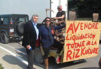 Roland CHASSAIN participe à la manifestation du monde agricole à Arles.