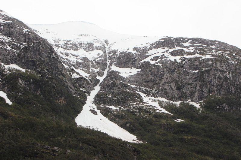 Canal de Beagle et le glacier PIA.