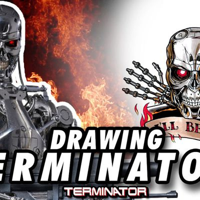 TERMINATOR ! Speed Drawing ✏️ Comic Book Style ✏️🕶