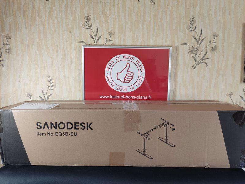 unboxing du bureau assis-debout électrique FlexiSpot EQ5 @ Tests et Bons Plans