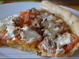 Ma tarte basilic thon tomate maïs