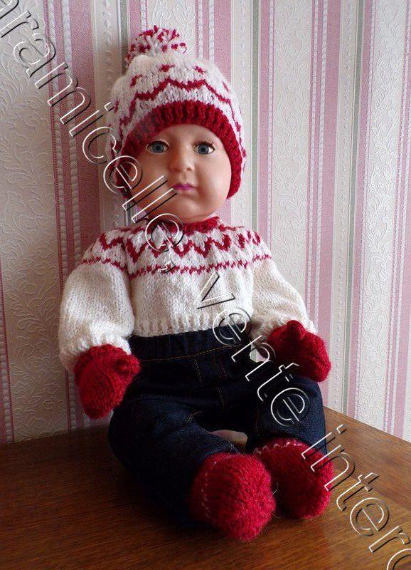 tuto gratuit poupée  :  moufles avec pouce