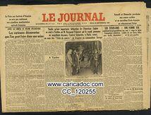«Verdu Raymond Poincaré Amiral Guépratte Commandeur Savage Régime bolchevique usine», Le Journal, 22/9/1927.