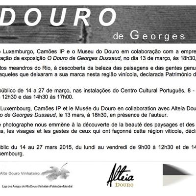 """EXPOSITION """"O DOURO à L'INSTITUT CAMÔES, LUXEMBOURG"""