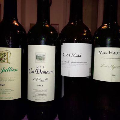 Quatre vins blancs des Terrasses du Larzac