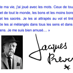 Citation Jacques Prévert chez Doup Doup
