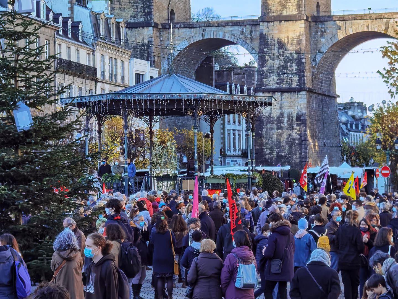 Photo Jean-Victor Gruat - Morlaix - Manif contre la Loi Sécurité Globale, 28 novembre 2020