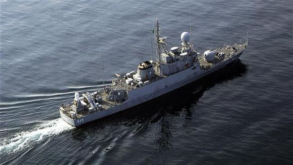 The file photo shows a warship belonging to the Royal Saudi Navy.