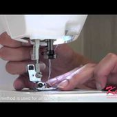 Brother SA186 Open Toe Foot Demonstration