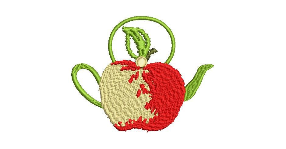 BRODERIE POMME THEIERE