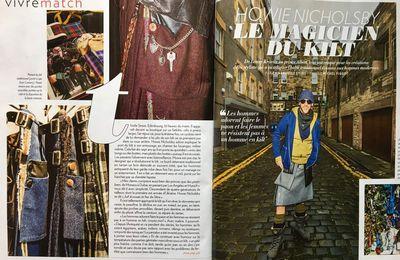 PARIS MATCH: INTERVIEW DE HOWIE NICHOLSBY, le magicien du Kilt, du 2 au 7 février 2017