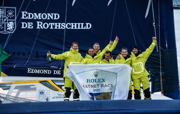 Championship for the second time: Maxi Edmond de Rothschild reached record fastnet race