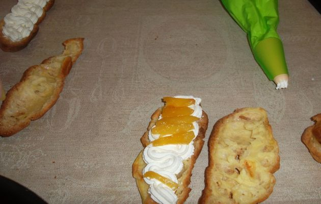 Eclairs chantilly-ananas