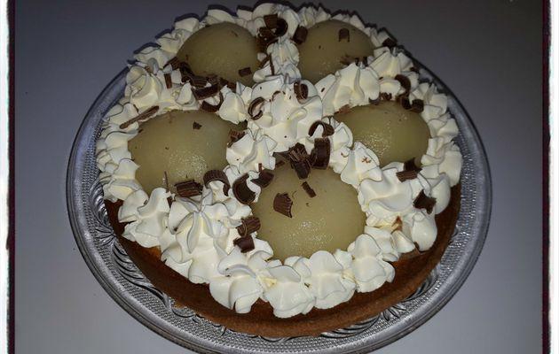 Génoise poire chocolat
