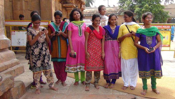 Sympathique groupe d'étudiantes