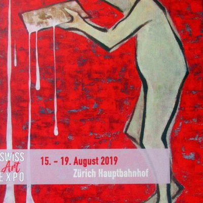 SWISS ART EXPO ZÜRICH 15-19 AUGUST 2019 in the main TRAIN STATION HALL. Come and see me, I am exhibiting with many other Swiss and foreign artists, a fantastic MUST SEE show , BIG SUMMER EVENT