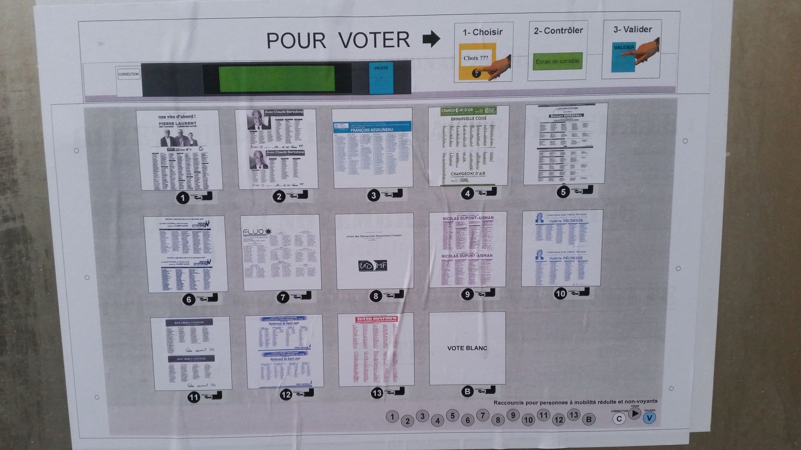 ELECTION RÉGIONALE A COLOMBES : LE VOTE ELECTRONIQUE