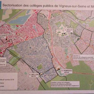 Mobilisation autour de la nouvelle sectorisation des collèges de Montgeron et Vigneux