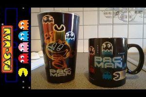 {Unboxing} PAC-MAN - Verre et tasse (mug) qui change de couleur avec la chaleur (Thermoréactif)
