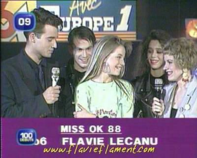 MISS OK 1988 : FLAVIE FLAMENT