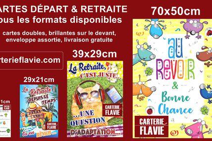 Offrez une carte Départ et Retraite, format traditionnel, maxi, géante, giga