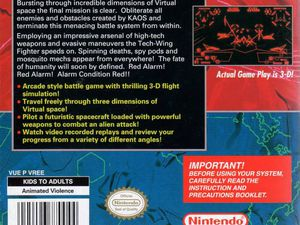 Red Alarm (Virtual Boy) - images issues des sites Gamefaqs et Mobygames