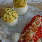 Oeufs mayonnaise au crabe et tomates - auxdelicesdemanue