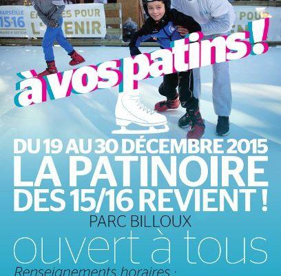 Patinoire de Noël gratuite au parc Billoux !