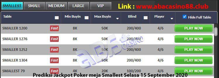 prediksi jackpot poker meja smallest selasa 15 september 2020