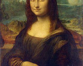 """""""La Joconde"""", Léonard de Vinci, 1503 / affiche Fauchon, 2012"""
