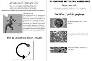 Niki de Saint Phalle cahier de liaison n°9(2015-2016)