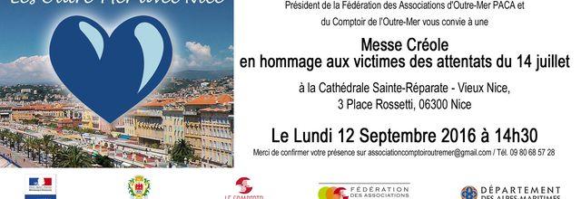 12/09/16 - Messe créole en hommage aux attentats du 14 juillet - Nice