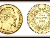 20 francs or NAPOLEON  III.